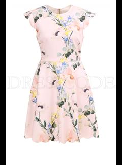 TED BAKER Ted Baker jurk in klokmodel in bloemenprint Roze