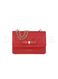 TED BAKER Ted Baker bow detail micro crossbody tas Jayllaa Rood