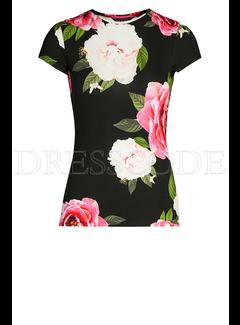 TED BAKER Ted Baker t-shirt met bloemenprint Zwart