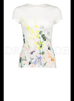 TED BAKER Ted Baker t-shirt met bloemen Wit