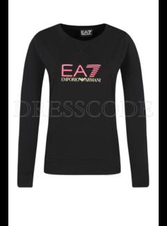 ARMANI EA7 Armani EA7 sweater met roze EA7 logo Zwart