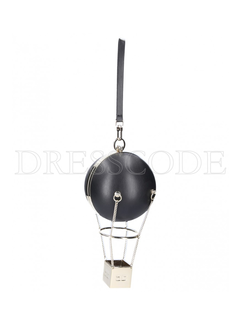 2. ELISABETTA FRANCHI Elisabetta Franchi luchtballon tas Zwart
