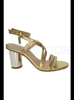 LIU JO Liu Jo sandaal in metallic met glitterhak Goud