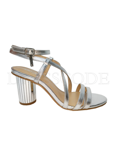 LIU JO Liu Jo sandaal in metallic met ronde hak Zilver