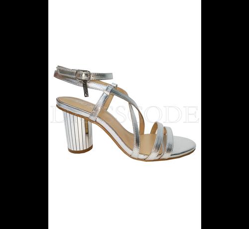 LIU JO Liu Jo zilveren sandaal in metallic met ronde hak