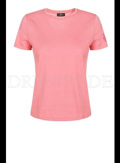 2. ELISABETTA FRANCHI Elisabetta Franchi t-shirt met logo op mouw in tulle Roze