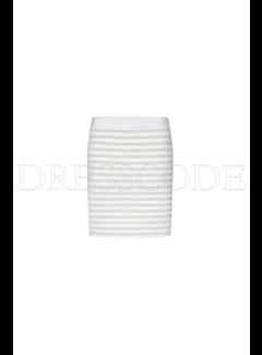 MARC CAIN Marccain minirok met lichte glitter strepen Wit