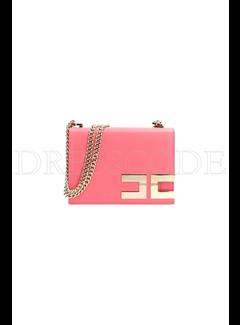 2. ELISABETTA FRANCHI Elisabetta Franchi crossbody tas met gouden logo Roze