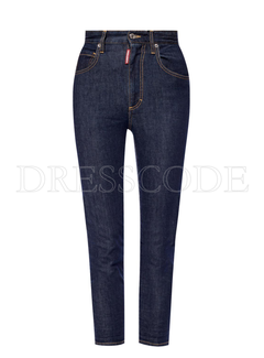 1. DSQUARED2 Dsquared2 high waist Twiggy Jean Blauw