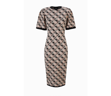 2. ELISABETTA FRANCHI Elisabetta Franchi gebreide jurk met logo print