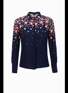 2. ELISABETTA FRANCHI Elisabetta Franchi blouse met roze sterren