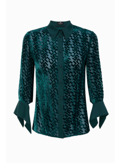 2. ELISABETTA FRANCHI Elisabetta Franchi blouse met EF logo monogram