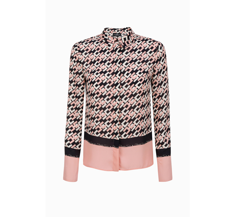 Elisabetta Franchi blouse met logo all-over