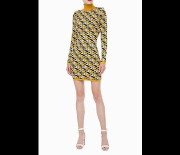2. ELISABETTA FRANCHI Elisabetta Franchi gebreide jurk in logo print