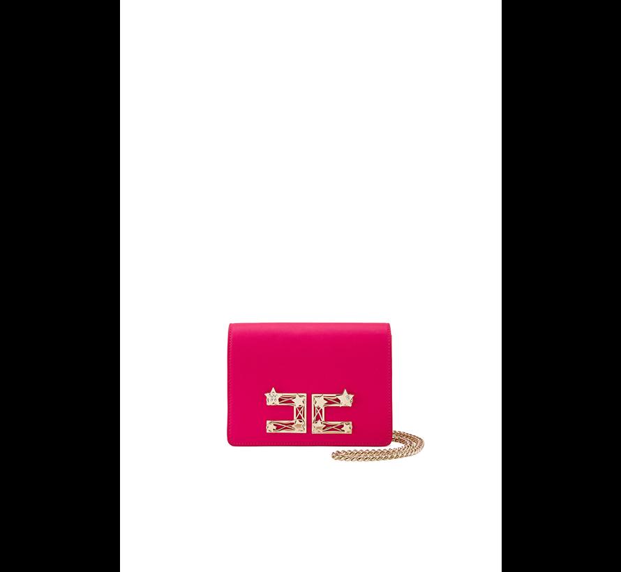 Elisabetta Franchi crossbody tas met logo en sterren