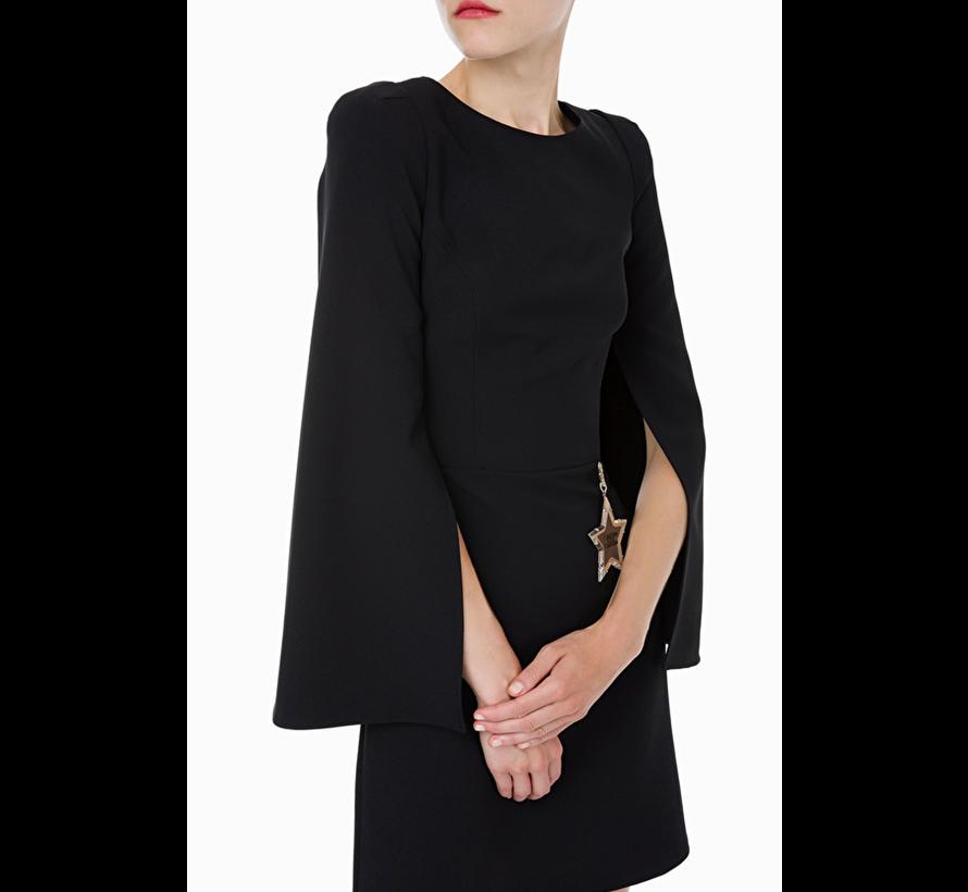 Elisabetta Franchi jurk met splitten in de mouwen