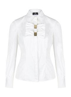 2. ELISABETTA FRANCHI Elisabetta Franchi witte blouse met strikken