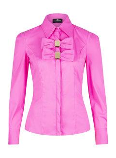 2. ELISABETTA FRANCHI Elisabetta Franchi roze blouse met strikken