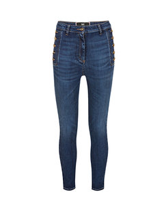 2. ELISABETTA FRANCHI Elisabetta Franchi skinny jeans met knopen aan zijkant