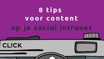8 tips voor content op social intranet