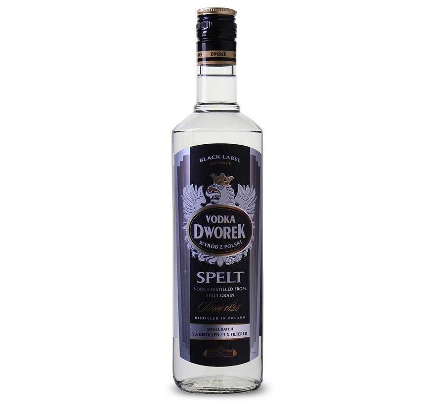 Dworek - Spelt Vodka Black Label Reserve 70 CL (1 Fles)