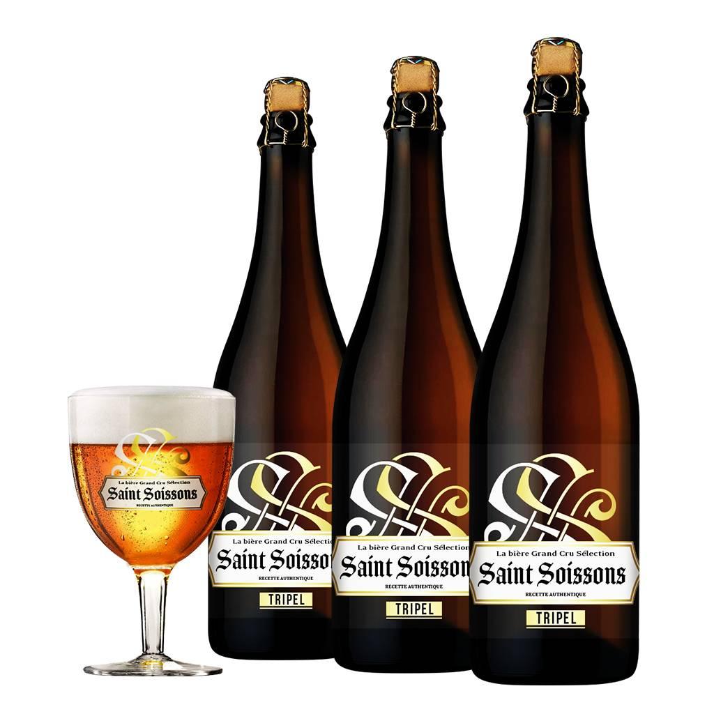 Afbeelding van Bierpakket Saint Soissons Tripel (3 flessen)