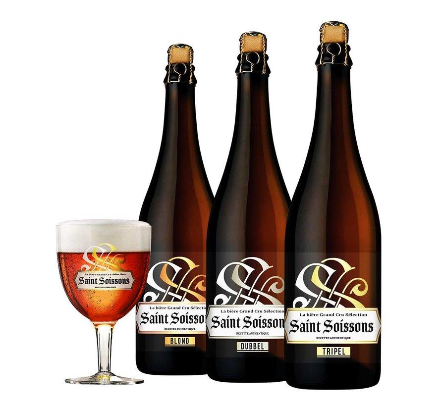 Bierpakket Saint Soissons Mix (3 flessen 75 CL)