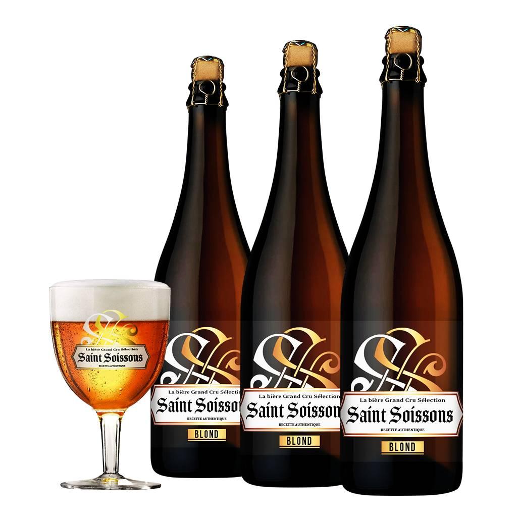 Afbeelding van Bierpakket Saint Soissons Blond (3 flessen)