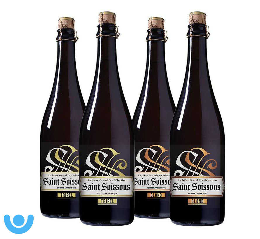 Bierpakket Saint Soissons Mix (4 flessen 75 CL)