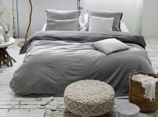Walra Bed & Badgoed Walra Dekbedovertrek Birger gijs/antraciet Lits-jumeaux