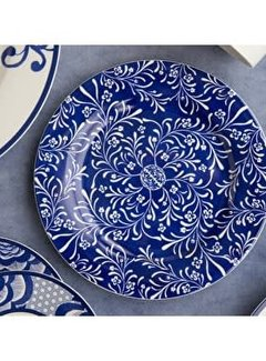 V&A The Cole Collection ontbijtbord/side plate blauw