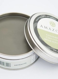 Amazona Krijtverf & Kleurwas Colourwax Antracite 250 ml.