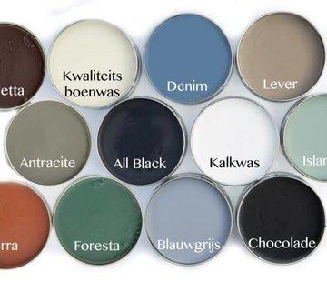 Amazona Krijtverf & Kleurwas Colourwax Chocolade - bruin 250 ml.