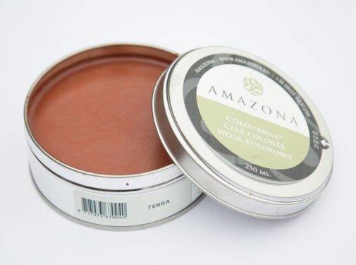 Amazona Krijtverf & Kleurwas Colourwax Terra - oranje/roest bruin 250 ml.