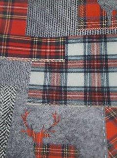 Zisensa, private collection Unieke woonaccessoires Kussen katoen Hert & Schotse ruit