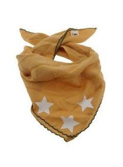 Zisensa, private collection Unieke woonaccessoires Baby sjaaltje oker sterren