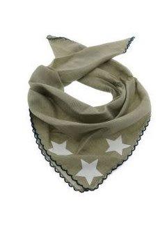 Zisensa, private collection Unieke woonaccessoires Baby sjaaltje groen sterren