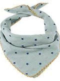 Kinder-Baby Sjaaltje mint met sterretjes roze/blauw