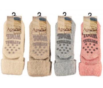 Zisensa, private collection Unieke woonaccessoires Copy of Baby Wool Home Socks 2 paar mt. 15/18 blauw & grijs