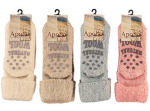 Zisensa, private collection Unieke woonaccessoires Kids Wool Home Socks 1 paar mt. 31/34 blauw