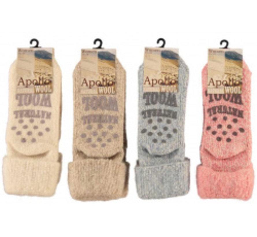 Copy of Women Wool Home Socks 1 paar mt. 35/38 blauw