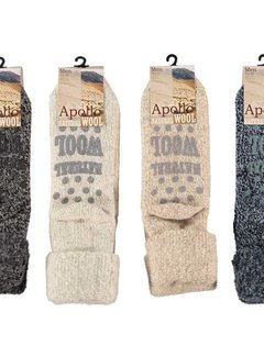 Zisensa, private collection Men Wool Home Socks 1 paar mt.39/42 d.grijs