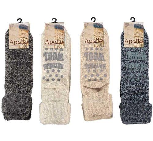 Zisensa, private collection Unieke woonaccessoires Copy of Women Wool Home Socks 1 paar mt.39/42 beige