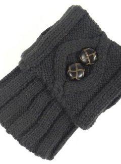 Zisensa, private collection Unieke woonaccessoires Beenwarmer donker grijs met knopen