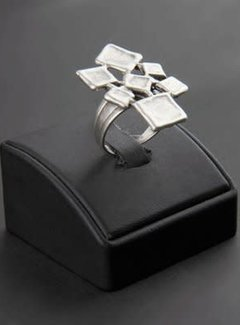 HeviHandmade; Zilveren sieradenlijn Zilveren ring blocks