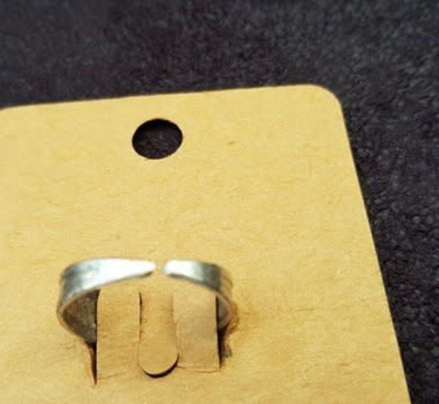 Copy of Hevi  Handmade ring verzilverd