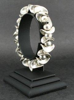 HeviHandmade; Zilveren sieradenlijn Handmade armband verzilverd circus