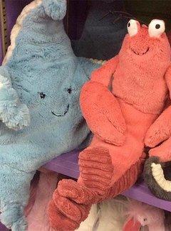 Jelly Cat; Kwaliteits knuffels Jellycat Sky Starfish, knuffel zeester blauw