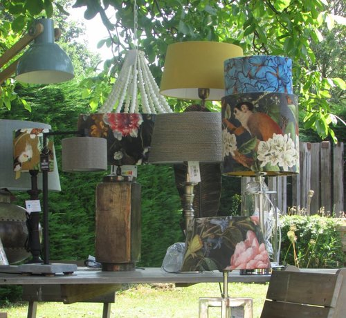 Zisensa, private collection Unieke woonaccessoires Lampenkap fluweel Jungle 30x30x30
