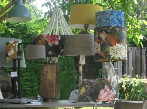 Zisensa, private collection Unieke woonaccessoires Copy of Lampenkap fluweel Jungle 30x30x30